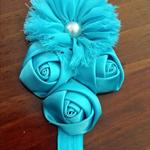 Rosette Flower Headband