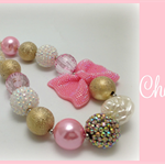 Pink Champagne ~ Pink Princess Line ~ Chunky Bubblegum Bead Necklace