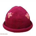 "Cotton Crochet Hat (6-12 months) ""Butterflies"" >free shipping!"