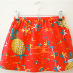 red hawaiian tropical pineapple skirt size 1,2,3,4
