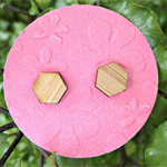 Hexagons Laser Cut Wooden Earrings