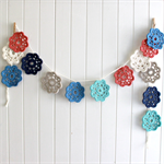 faith | flower garland | crochet bunting room accessory | decoration