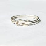 Sterling silver love knot ring, celtic love knot ring