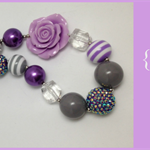 Princess Pretties - Perfectly Purple - Chunky Bubblegum Bead Necklace