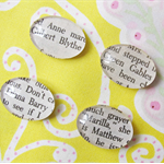 Anne of Green Gables Magnet Set. Glass Cabochon. Literature Classic Anne Gilbert