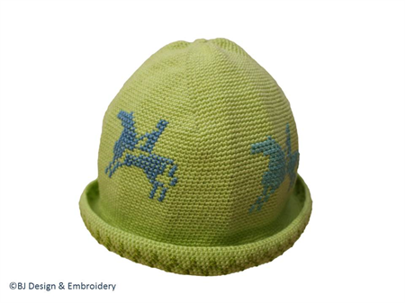 "Cotton Crochet Hat (6-12 months) ""Melbourne Cup"" >free shipping!"