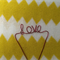 "Custom Made Wire Cake Toppers - Baby Shower ""Love"""