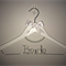 Personalised Wedding Dress Hanger - Includes Pearl Arch