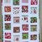 Advent Calendar Quilt for Christmas, custom made to order
