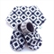 Navy Blue Aztec Bandanna Bib & Baby Shoe Gift Set