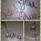 Personalised Wire Wine / Champagne Glass Charm 20mm Hoop - Your Guests Names!