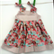 Size 2 Girl's pinafore dress Elephants with Stripes