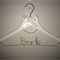 Personalised Wedding Dress Hanger - Includes Crystal Arch - Great Gift for Bride