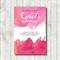 PINK SUNSET printable custom invitation