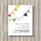 BUNTING printable custom invitation