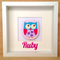 Pink Owl Personalised 3D Frame