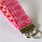 Wrist Key Fob - Hot Pink Kangaroos with polka dots.