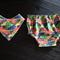 """80's print"" summer bum& bandana bib size1"