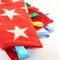 BRIGHT STARS Baby Security Blanket Blankie Taggie Toy + Free Taggie /Dummy Saver