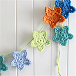 star garland | crochet room accessory | baby nursery gift