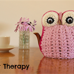Pink Owl Tea Cosy for a 4 Cup Teapot