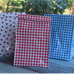 Lunch bags made from Mexican oilcloth