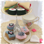 Felt High Tea Set Play Kitchen Food.