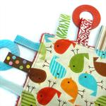 Fun Tag Square Rainbow Birds by Ernie & Bird