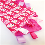 FREE POST * HELLO KITTY ~ Baby Security Blankie Taggie Toy + Free Taggie Saver