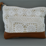 Lace & Leather Bag