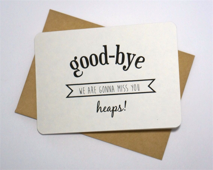 how to end a goodbye card