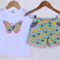 Butterfly short set ~ sizes 1-5 Sassy shorts + applique top