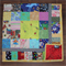 I Spy brightly colored childrens quilt made using a multitude of novelty prints