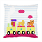 Cute Train with Monkey, Lion & Tiger Art Cushion Cover