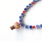 Up! Balloon purple and terracotta orange beaded necklace by Sasha + Max Studio