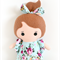 tiny tot doll blue floral flutter sleeve