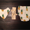 Pineapples Bandana bib, Summer bum and tie knot headband   Size 1