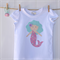 Molly the Mermaid Applique tee short sleeve sizes 1-7 Pretty, aqua, pink