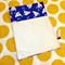 Fabric Folder Homework or document storage bag Sailboats on Blue