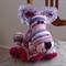 Lauren: hand crocheted lion cub by CuddleCorner: OOAK, washable, pinks