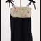 minicouture black smock style dress with vintage doiley as front yolk.