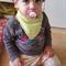 Adjustable bandana bib - green unisex baby boy girl