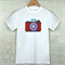 Camera print white t shirt