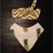 Pineapples Bandana bib,  and tie knot headband
