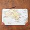 Map Travel pouch wallet / zipper purse/ travel purse/ passport holder