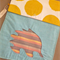 Fabric Folder, Document Wallet, Homework Storage Echidna Yellow Spots and Blue