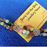 "Double strand gemstone bracelet ""Mixed Twist"""
