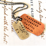 Dog Tag Gift For Dad Rustic New Dad Gift Christmas Dad Jewellery Mens Necklace