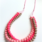 Washable Silicone Bead Necklace - Triple the fun!