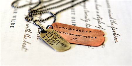 New Dad Gift Dog Tags Childrens Names Rustic Gift Christmas Gift for New Dad Men